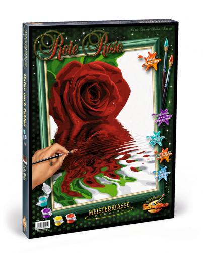 Kit pictura pe numere schipper trandafirul rosu - Jucarii copilasi - Toys creative