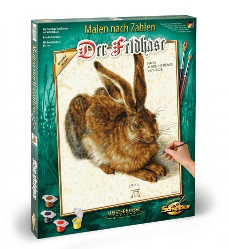 Kit pictura pe numere schipper young hare de albrecht durer - Jucarii copilasi - Toys creative
