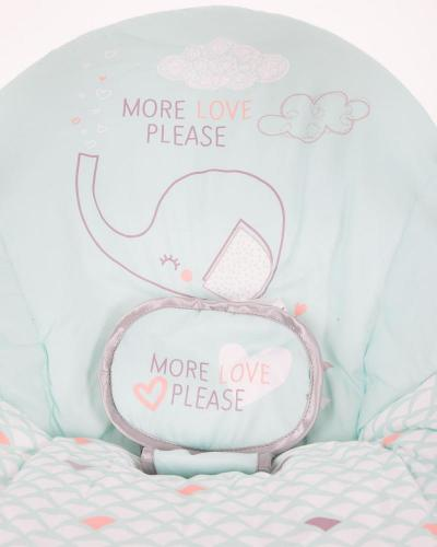 Leagan bebelusi cu conectare la priza Felice Mint Elephant - Camera bebelusului - Leagane si balansoare