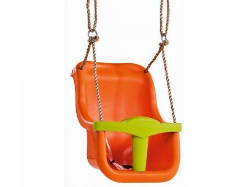 Leagan pentru copii Luxe PP portocaliu - verde lime - Jucarii exterior - Leagan de gradina