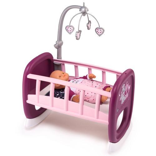 Leagan pentru papusa Smoby Baby Nurse mov cu carusel - Papusi ieftine -