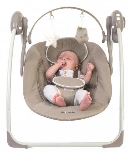 Leagan portabil BO Jungle Bej pentru bebelusi cu arcada jucarii - Camera bebelusului - Leagane si balansoare