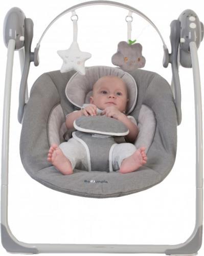 Leagan portabil BO Jungle Gri pentru bebelusi cu arcada jucarii - Camera bebelusului - Leagane si balansoare