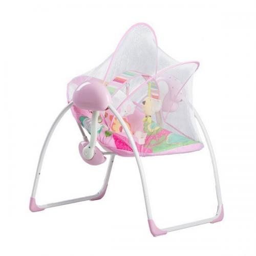 Leagan si balansoar electric 2306 ecotoys - roz - Camera bebelusului - Leagane si balansoare