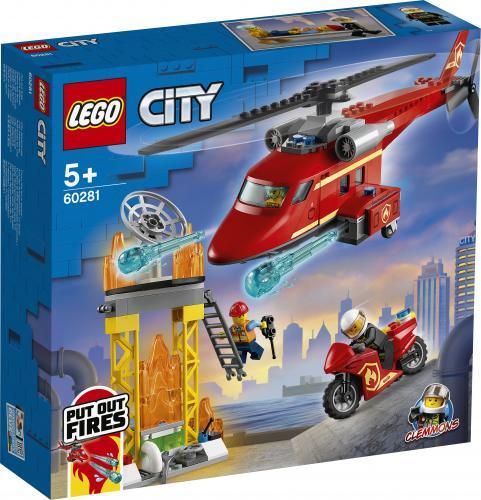 LEGO City Elicopter de pompieri - Jucarii copilasi - Jucarii de constructie
