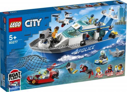 LEGO City Nava de patrulare a politiei - Jucarii copilasi - Jucarii de constructie
