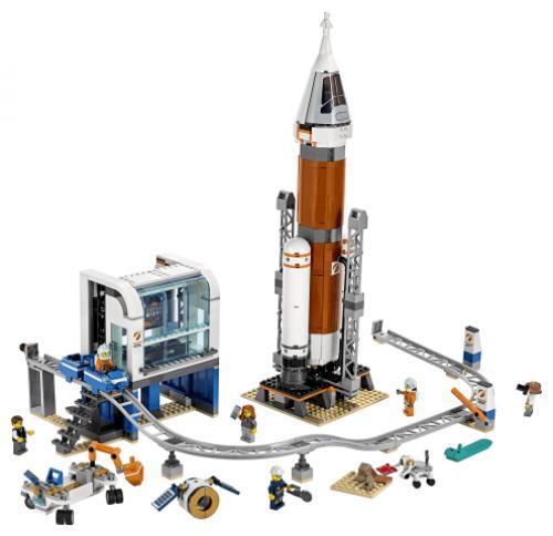 LEGO® City Space Port Racheta pentru spatiul indepartat si Centrul de comanda a - Jucarii copilasi - Jucarii de constructie