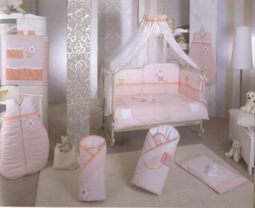 Lenjerie de pat Feretti Quartetto -Lapin pink - Camera bebelusului - Lenjerii patut