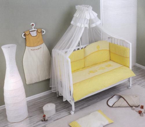 Lenjerie de pat Nino 3BB+1- Morada yellow - Camera bebelusului - Lenjerii patut