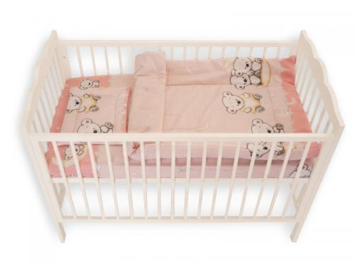 Lenjerie MyKids Bear On Moon Pink 3 Piese 120x60 - Camera bebelusului - Lenjerii patut