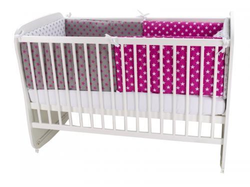 Lenjerie MyKids Colorful Stars Pink 9 Piese 120x60 cm - Camera bebelusului - Lenjerii patut