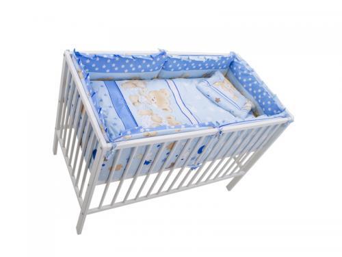 Lenjerie MyKids Teddy Hug Blue 4+1 Piese 120x60 - Camera bebelusului - Lenjerii patut