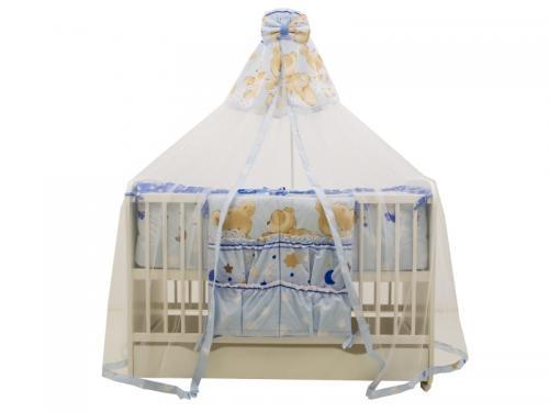 Lenjerie MyKids Teddy Hug Blue M2 7 Piese 120x60 cm - Camera bebelusului - Lenjerii patut