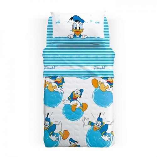 Lenjerie pat Donald Duck 160x280 cm - Camera bebelusului - Lenjerii patut