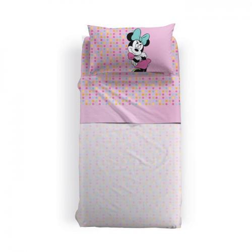 Lenjerie pat Minnie Gaia 170x270 cm roz - Camera bebelusului - Lenjerii patut