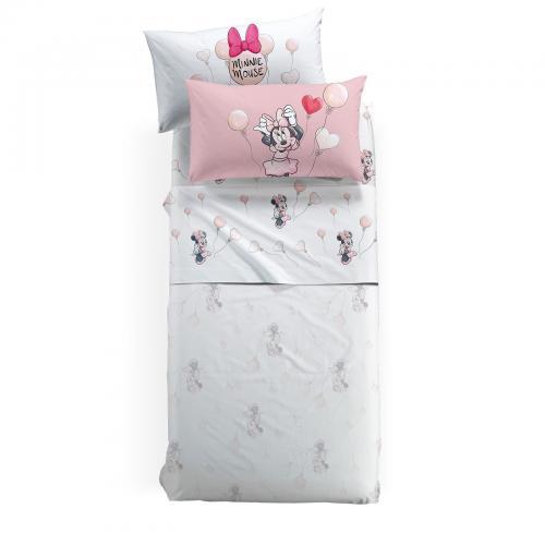 Lenjerie pat Minnie Love 170x270 cm roz - Camera bebelusului - Lenjerii patut