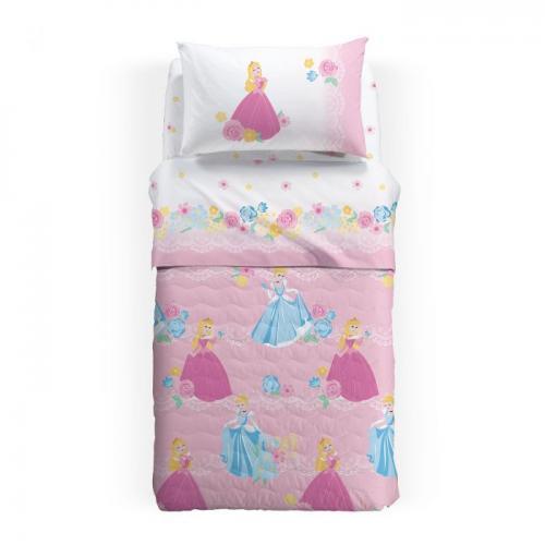 Lenjerie pat Princess Romantic 170x270 cm roz - Camera bebelusului - Lenjerii patut