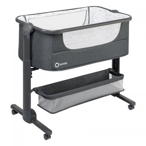 Lionelo - Patut 3 in 1 Co-Sleeper Timon - Pliabil - Dark Grey - Camera bebelusului - Patut pliabil
