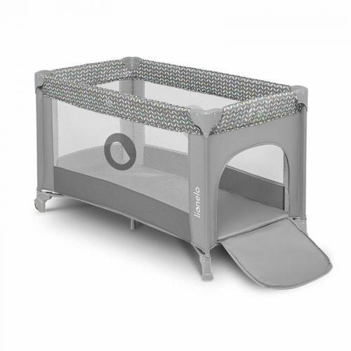 Lionelo - Patut pliant Sofie - 120x60 cm - Grey Concrete- Multicolor - Camera bebelusului - Patut pliabil