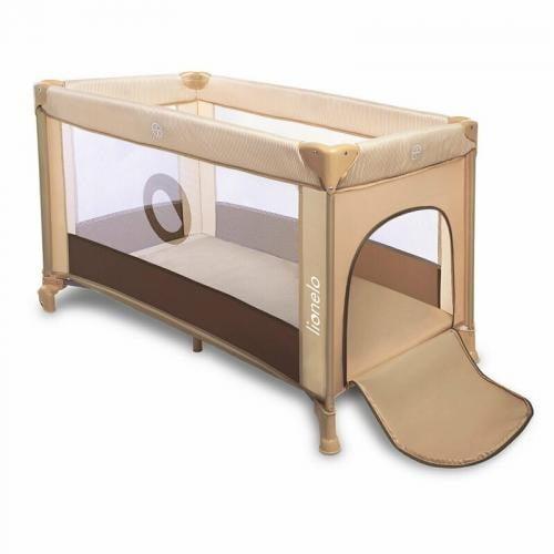 Lionelo - Patut pliant Stefie - 120x60 cm - Beige - Chocolate - Camera bebelusului - Patut pliabil