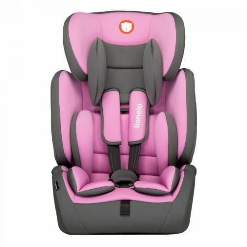 Lionelo - Scaun auto copii 9-36 Kg Levi Simple - Candy Pink - Scaune auto copii - Scaun auto 9-36 Kg
