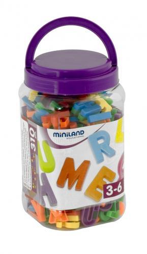 Litere Mari Magnetice Miniland 310 Buc - Jocuri pentru copii - Jocuri magnetice