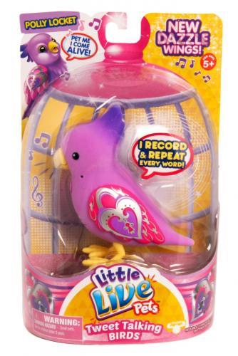 LITTLE LIVE PETS Pasare electronica S4 Polly Locket - Jucarii copilasi - Figurine pop