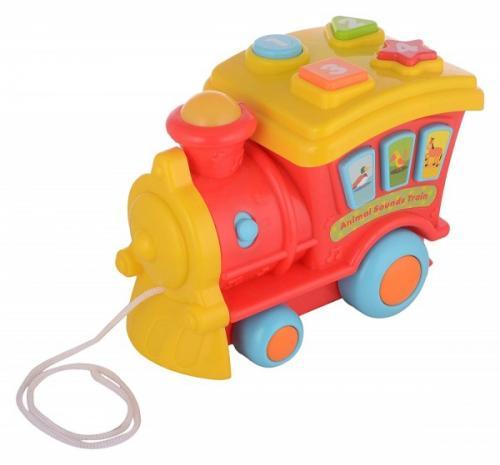 Locomotiva muzicala pentru copii Winfun de tras cu melodii si sunete - Jucarii bebelusi - Jucarie muzicala