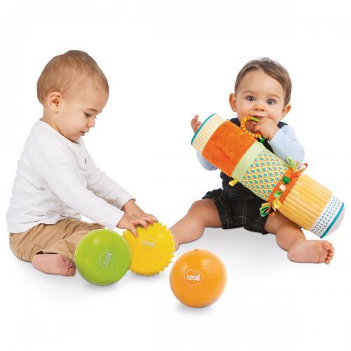 LUDI Set senzorial Tub + 3 mingi - Jucarii bebelusi -