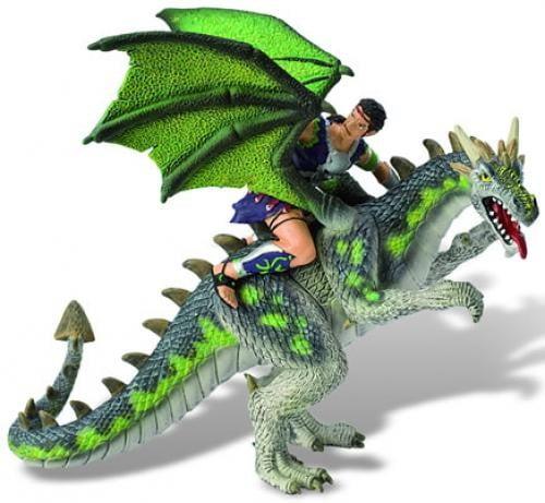 Luptator pe dragon verde - Jucarii copilasi - Figurine pop