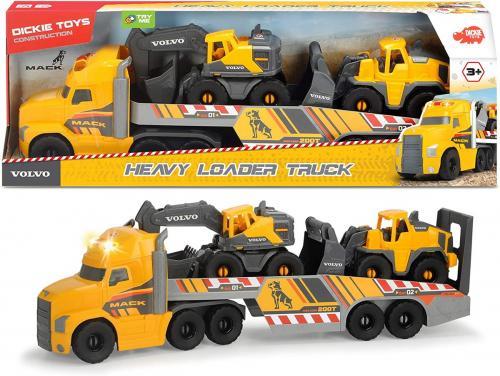 Mack volvo heavy loader truck 70cm cu remorca - Jucarii copilasi - Avioane jucarie
