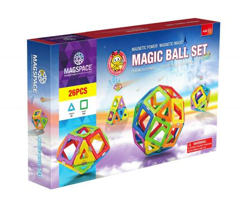 Magspace 26 piese - magic ball set - joc magnetic educativ de constructie 3d - Jocuri pentru copii - Jocuri magnetice