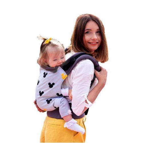 Marsupiu ergonomic cu 2 pozitii de transport - 55 kg-20 kg - Kinder Hop – Basic - Miki - Plimbare bebe - Marsupiu bebelusi