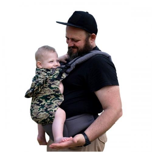 Marsupiu ergonomic cu 2 pozitii de transport - 55 kg-20 kg - Kinder Hop – Basic - Moro - Plimbare bebe - Marsupiu bebelusi