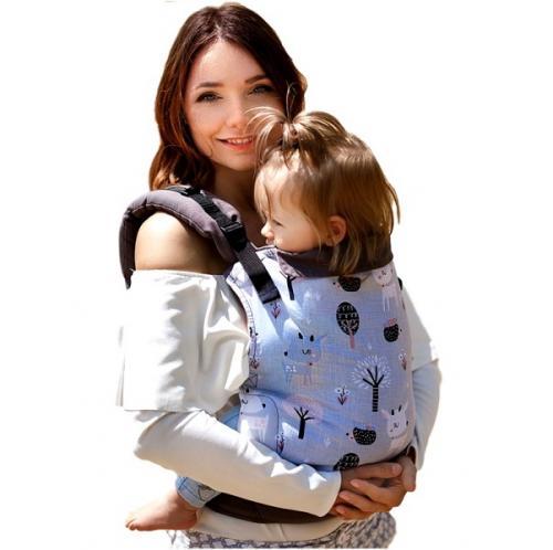 Marsupiu ergonomic cu 2 pozitii de transport - 55 kg-20 kg - Kinder Hop – Basic - Roe Deers - Plimbare bebe - Marsupiu bebelusi