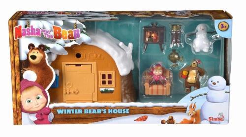 Masha set casa de iarna a ursului - Jucarii copilasi - Figurine pop