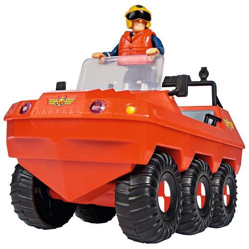 Masina de pompieri Simba Fireman Sam - Sam Hydrus cu figurina si accesorii - Jucarii copilasi - Avioane jucarie