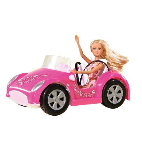 Masina Simba Steffi Love Beach Car cu papusa 29 cm - Papusi ieftine -