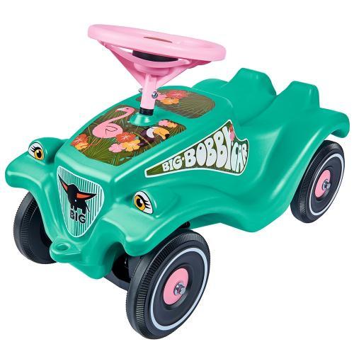 Masinuta de impins Big Bobby Car Classic Tropic Flamingo - Plimbare bebe - Vehicule de impins
