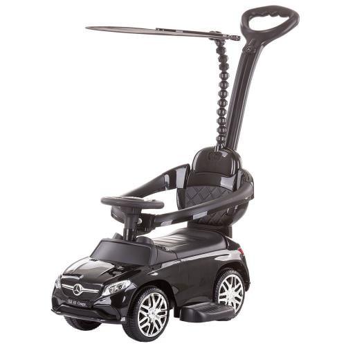 Masinuta de impins Chipolino Mercedes AMG GLE 63 Coupe black cu maner si copertina - Plimbare bebe - Vehicule de impins