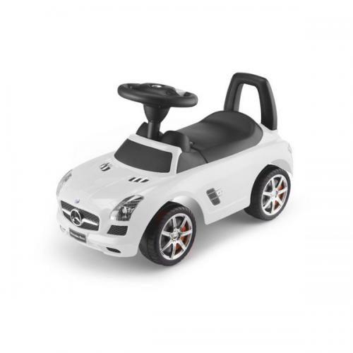 Masinuta de impins mercedes benz sls amg – alb - Plimbare bebe - Vehicule de impins