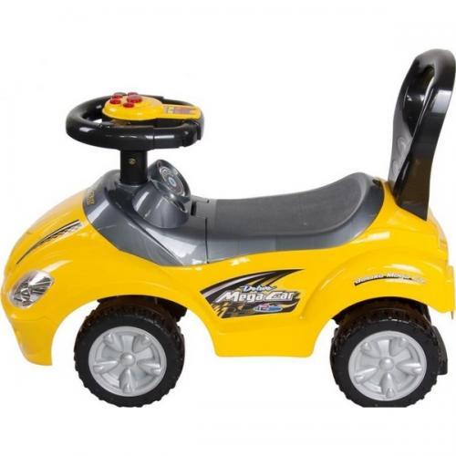 Masinuta de impins sun baby mega car - yellow - Plimbare bebe - Vehicule de impins