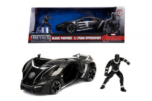 Masinuta marvel avengers lykan hypersport black panther scara 1 la 24 - Jucarii copilasi - Avioane jucarie