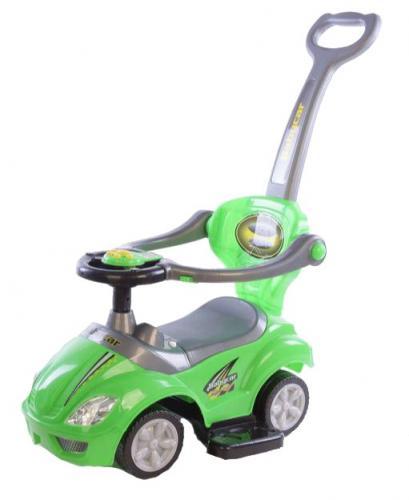 Masinuta multifunctionala 3 in 1 Ride On Green - Plimbare bebe - Masinute fara pedale