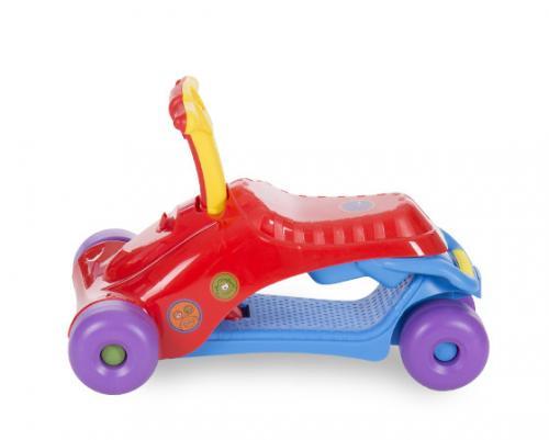 Masinuta pentru copii Ride on Baby Walker 3 in 1 Red/Blue - Plimbare bebe - Masinute fara pedale