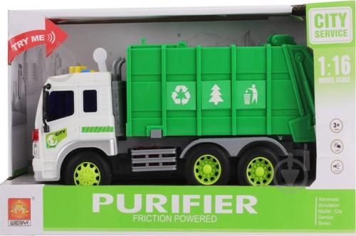 Masinuta pentru reciclare cu frictiune lumini si sunete scara 1 la 16 - Jucarii copilasi - Avioane jucarie