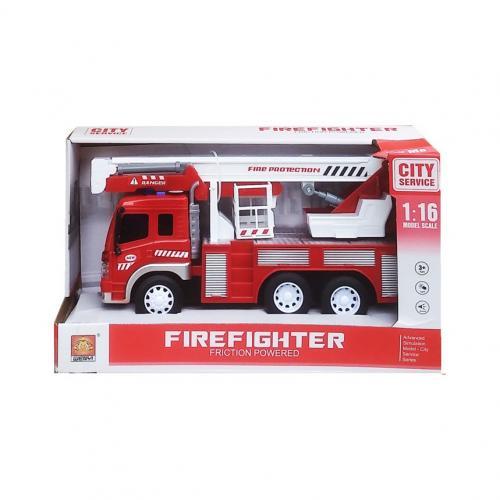 Masinuta pompieri cu frictiune sunete si lumini scara 1 la 16 - Jucarii copilasi - Avioane jucarie