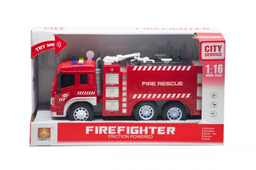 Masinuta pompieri cu functiuni fire rescue scara 1 la 16 - Jucarii copilasi - Avioane jucarie