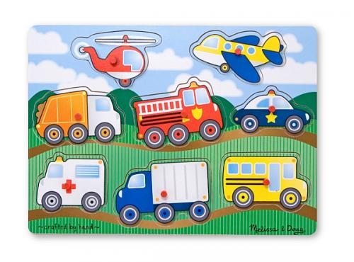 Melissa&doug - Puzzle Lemn Vehicule - Jucarii copilasi -