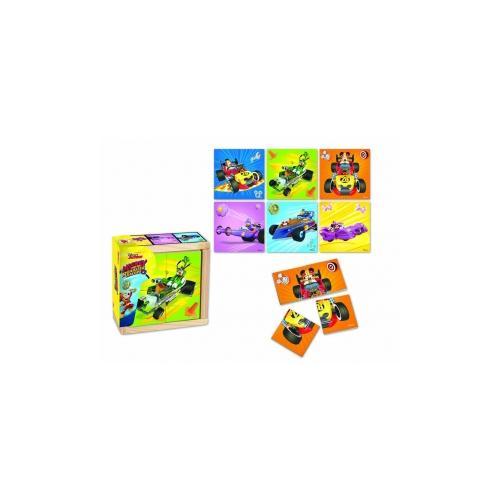 Mickey si pilotii de curse puzzle in cutie 6 poze - Jocuri pentru copii - Jocuri cu puzzle